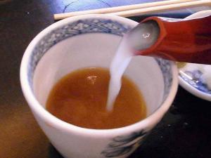 10-9-23 蕎麦湯
