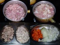 もつ煮カレー材料