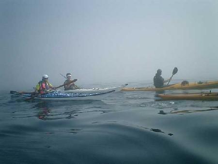 霧の中を神子元島へ