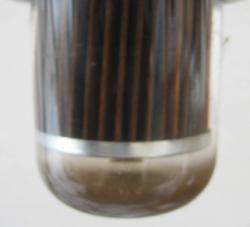 汚れた状態の灯油タンクストレーナー