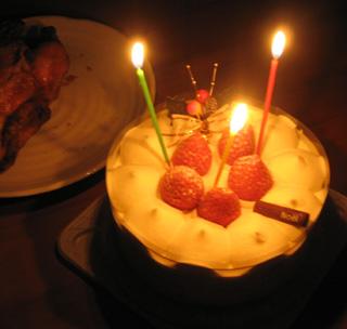ケーキとチキン