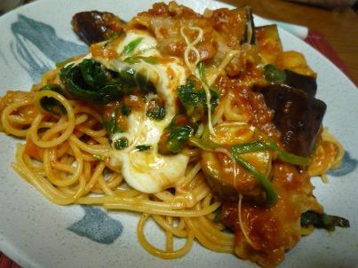 080926 トマトのモッツァレラチーズのスパゲティ