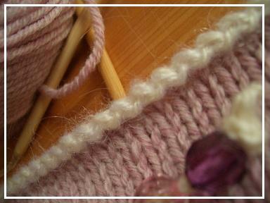 ニットキャップ・ふち編み