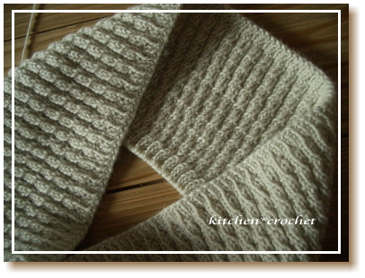 スヌード編みかけ