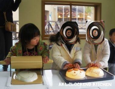 パン作り中