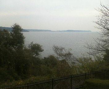 浜名湖サービスエリアからの眺め。