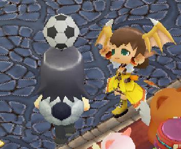 サッカーボールがキュートだぁあ