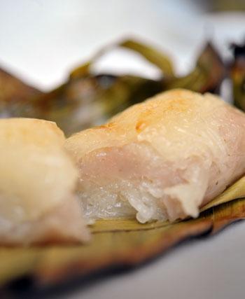 バナナの葉包み焼き2