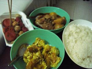 ぶっ掛け夕飯1