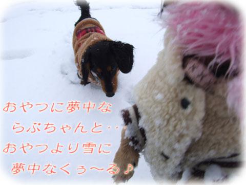 おやつVS雪