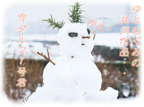 雪ダルマ君1号