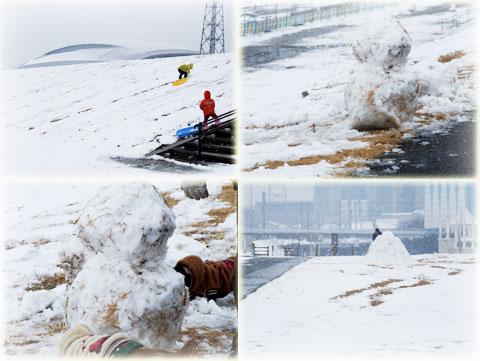 雪の日の光景・・・