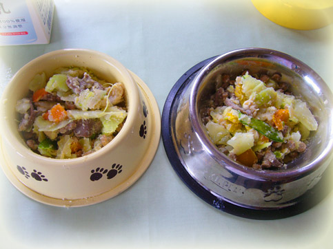 ささみと砂肝とおからとお野菜の水煮