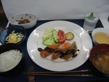 0703 野菜の肉巻きランチ