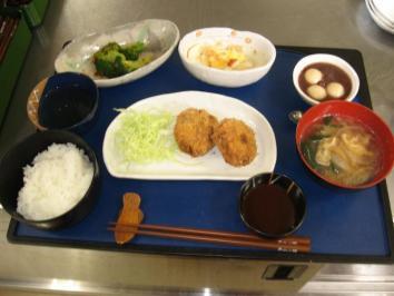 0206 白菜のメンチカツランチ