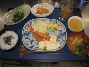 0409 エビフライ定食