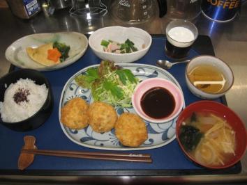 0504 豆腐だんごフライ定食