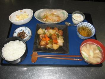 0116 ヘルシー酢豚ランチ