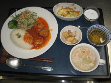 0121 チキンのトマト煮ランチ