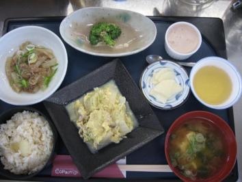 0123 長ネギの炊き込みご飯定食