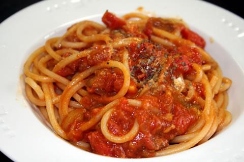 ナスとトマトのパスタ