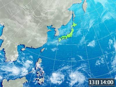 衛星画像(日本広域)