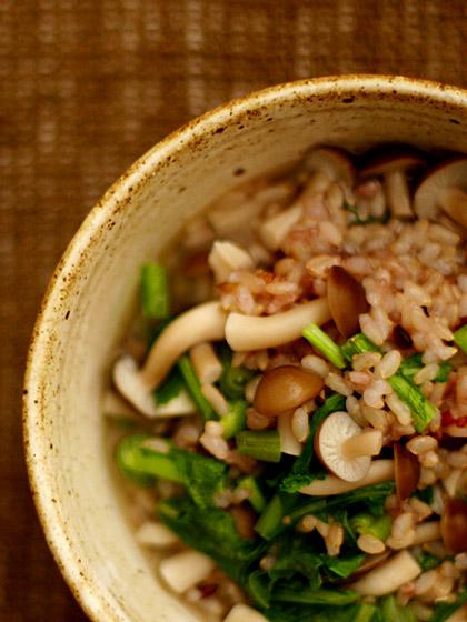 玄米雑炊(上から)
