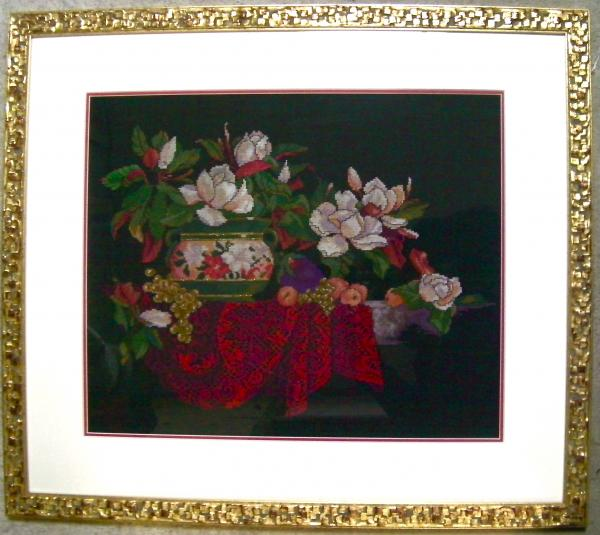 花瓶と花ー額装