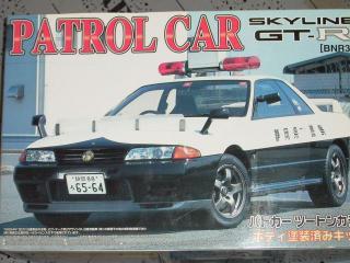 アオシマ・R32GTRパトカー・箱絵