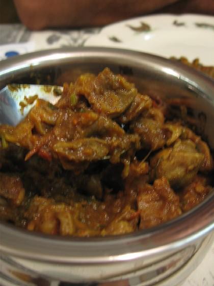砂肝カレー