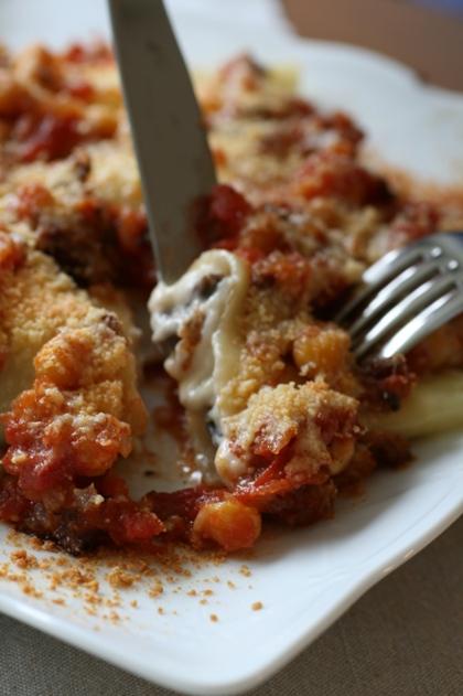 ベシャメルとトマトのカネロニ2