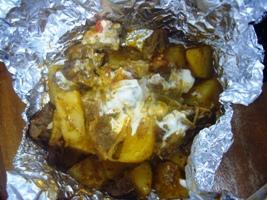 牛肉とジャガイモの炒め物