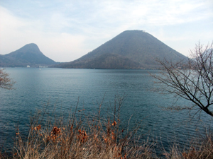 榛名湖からの風景…。