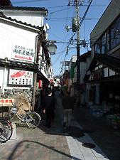 三朝温泉の魅力ある側道w