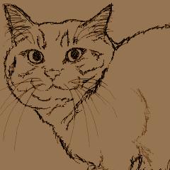 マウス描画ネコ・本当は茶トラ