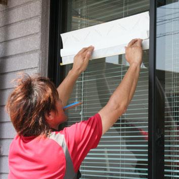 窓シート貼り1