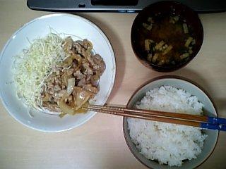 料理 9月9日 豚生姜焼き定食