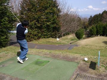 ジョニー君とゴルフ