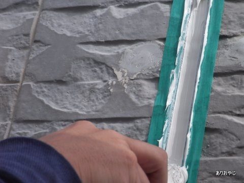 充填 ヘラ慣らし コーキング材 DIY 外壁塗装 目地