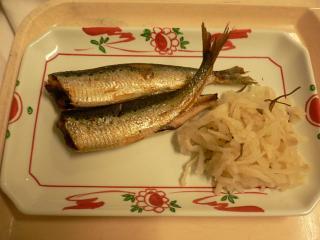 夕食のいわし