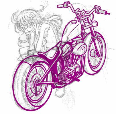 バイク途中