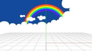 どんぶり空:虹の縮小モーフ・サンプル