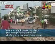 バングラデシュの鉄道列車とバスの衝突事故