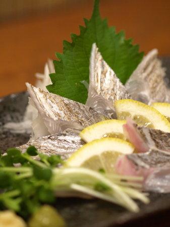太刀魚捌き、炙り刺し46