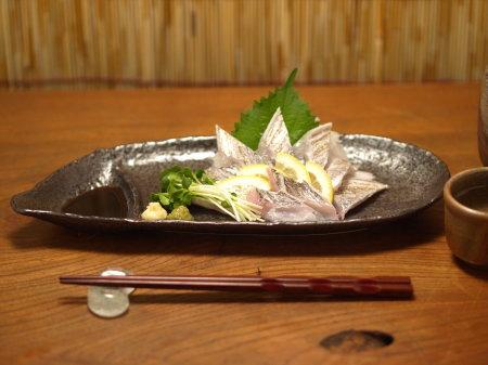 太刀魚捌き、炙り刺し43