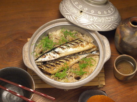 秋刀魚土鍋ご飯13