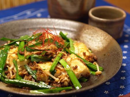 坦々ニラ豆腐15