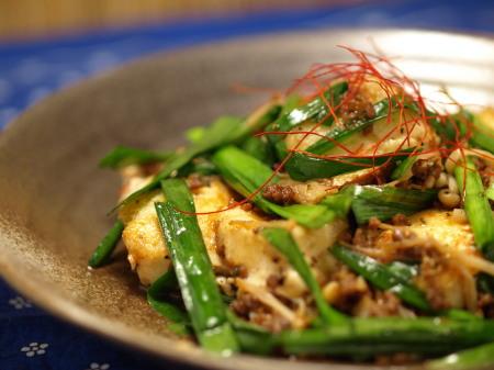 坦々ニラ豆腐12