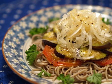 炒め茄子のサラダ蕎麦14