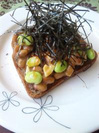 枝豆海苔トースト